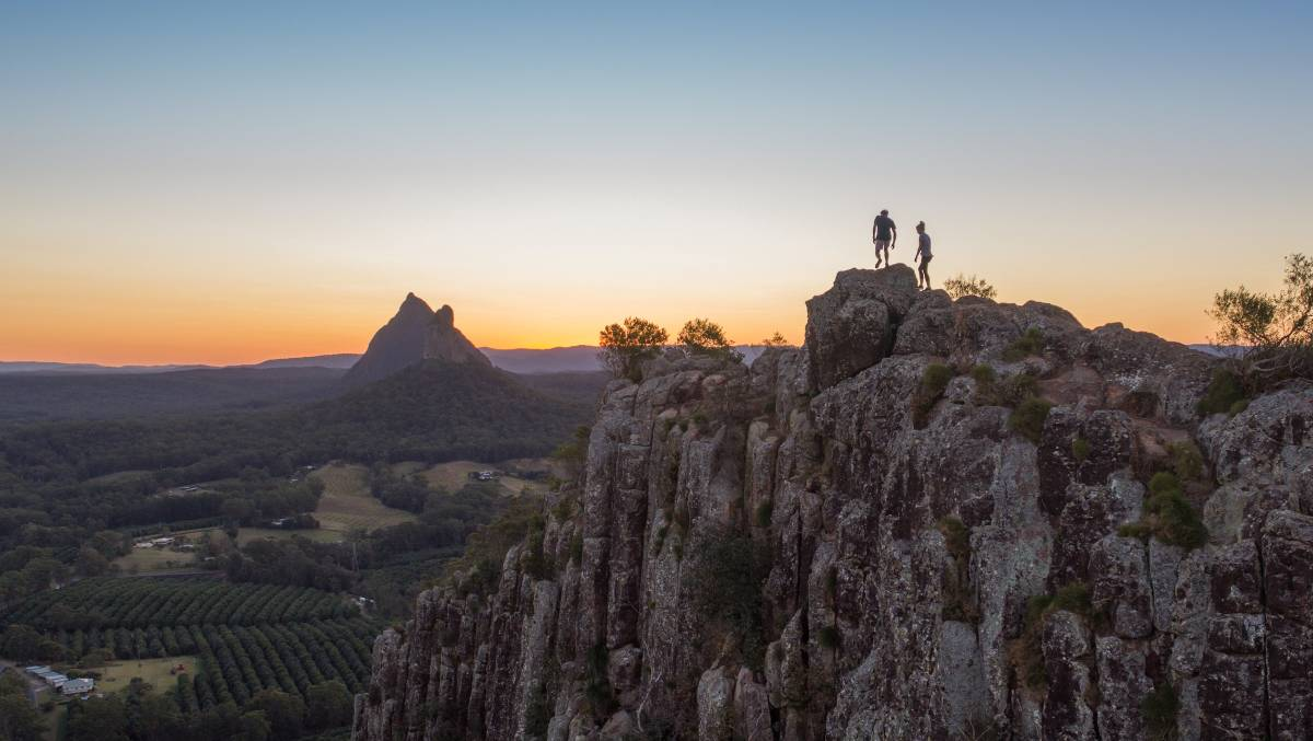 Feel on top of the world in the hinterland of Queensland's Sunshine Coast. Picture: Supplied
