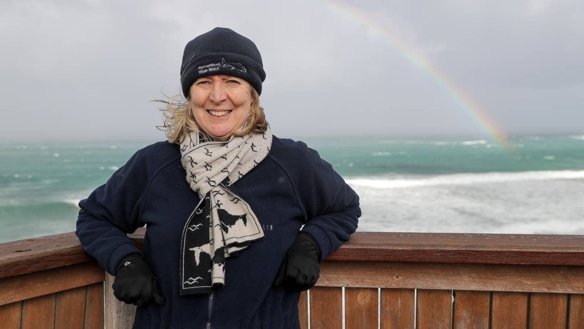 Department of Environment Land Water and Planning Natural Environment Program Officer Mandy Watson at Logans Beach.