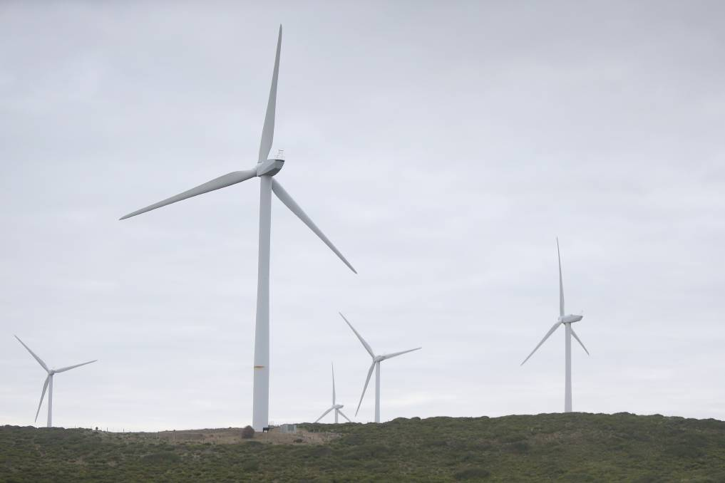 The wind farm first received a planning permit in 2008 and looks set to go ahead. Pictured are turbines nearby at Cape Bridgewater.