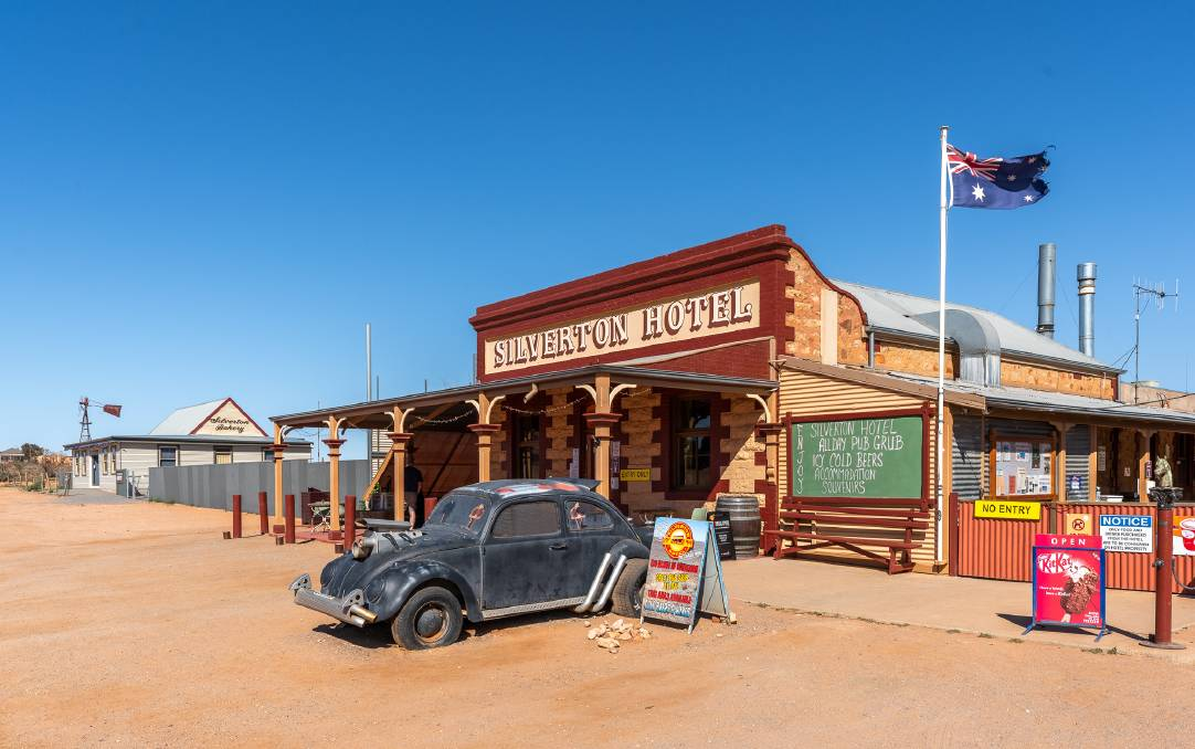 The Silverton Hotel is the heart of the small outback community. Pictures: Michael Turtle