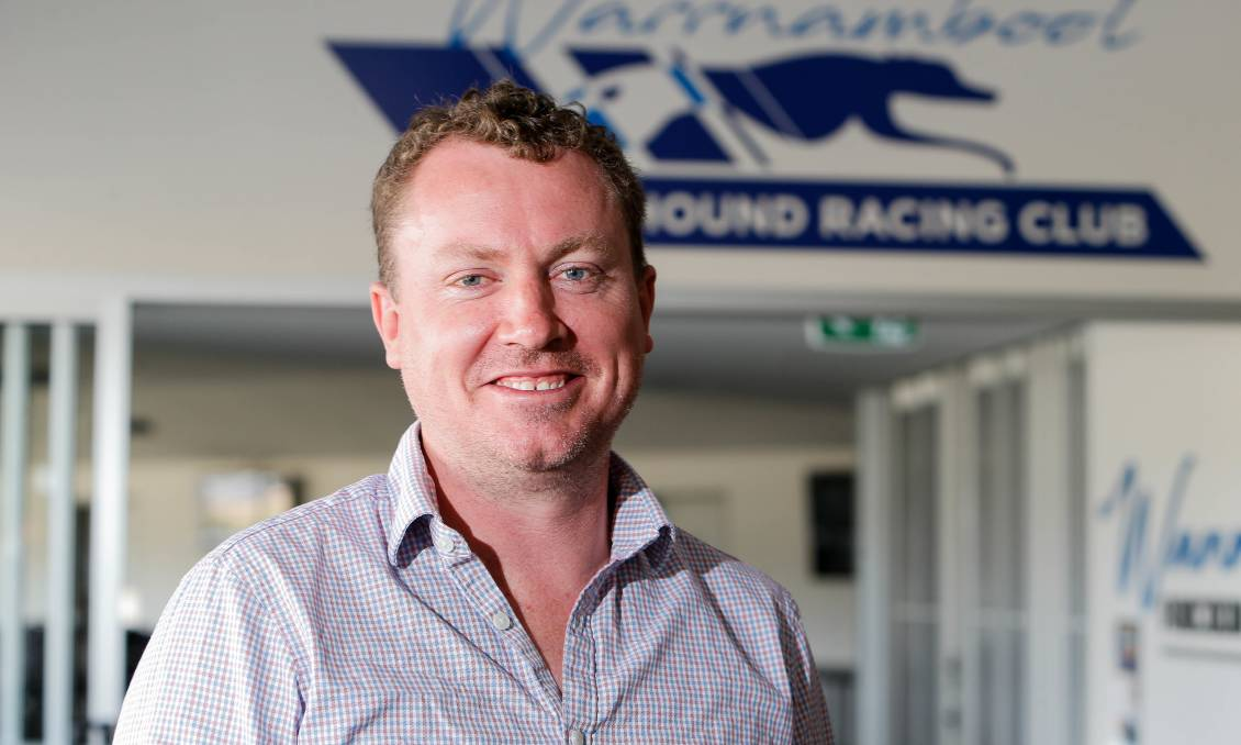 Excited: Warrnambool Greyhound Racing Club manager Craig Monigatti is stoked with the strong Warrnambool Cup field. The race starts at 8.38pm on Wednesday and includes the likes of south-west hope, Mepunga Warrior. Picture: Anthony Brady