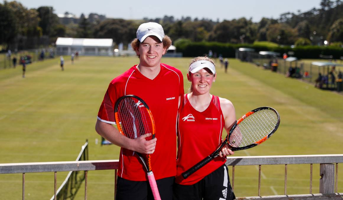 Family: Siblings Patrick, 19, and Sophie Drake, 22, at the Inter-Regional Country Championships. Picture: Morgan Hancock