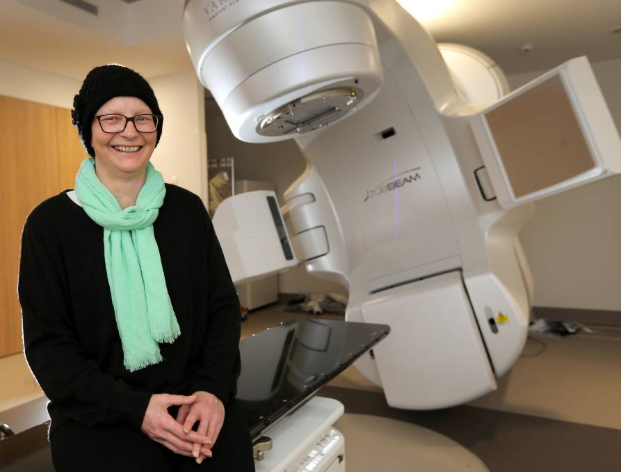 Grateful: Catherine Richards will be the first patient to receive radiotherapy at the South West Regional Cancer Centre. The new service means she will be able to remain in Warrnambool closer to her family. Picture: Rob Gunstone