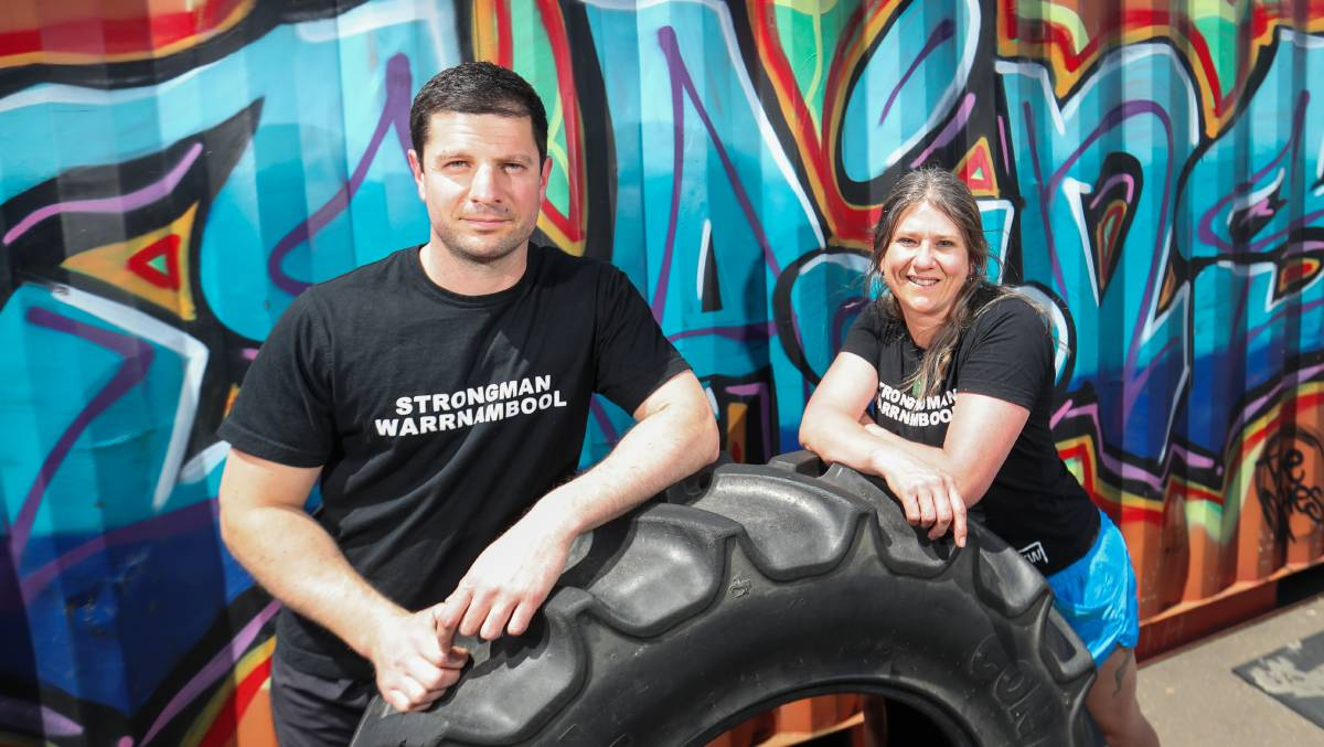 READY: Paul Mammone and Julie Galloway will be compete in the Static Monsters Worldwide strongperson competition. Picture: Morgan Hancock