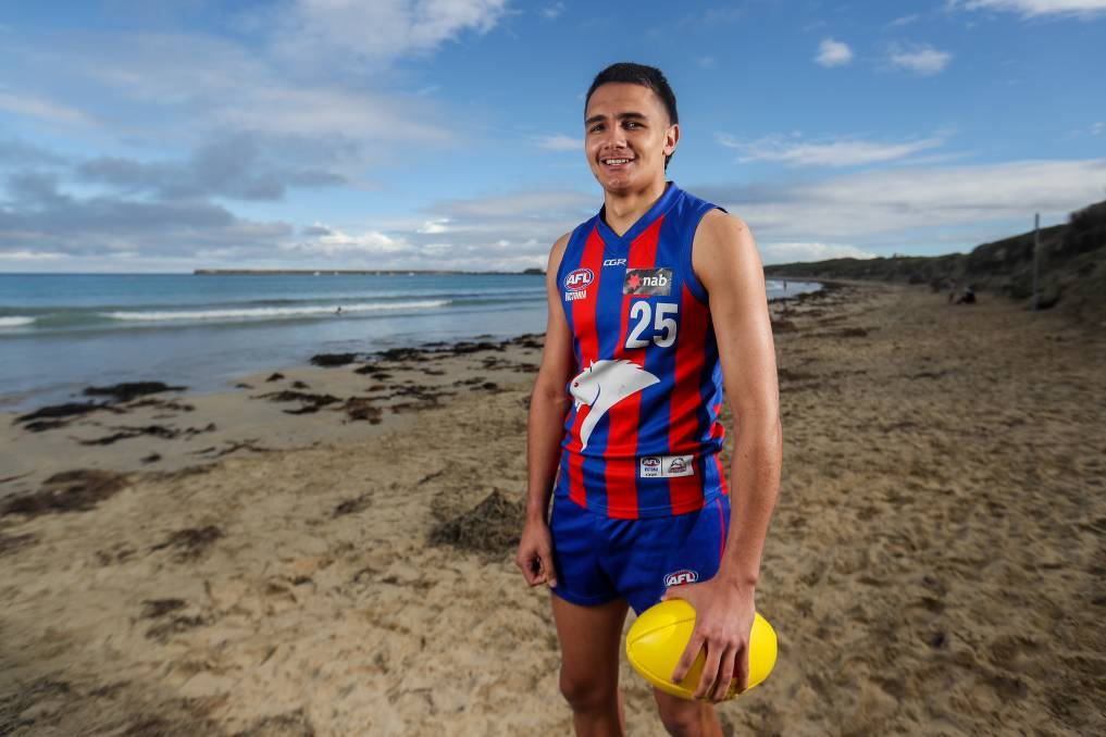 WHERE IT ALL BEGAN: Framlingham's Jamarra Ugle-Hagan has strong ties to south-west Victoria, including Warrnambool. Picture: Morgan Hancock