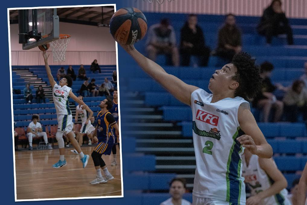 SWEET SHOOTER: Malakye Cunningham shone for Warrnambool Seahawks in his Big V debut on Saturday night, scoring a team-high 18 points. Pictures: Larry Lawson