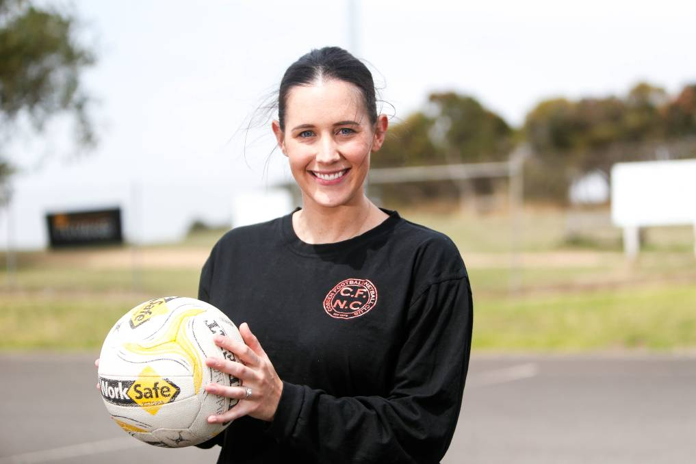 PATIENT: Cobden coach Sophie Hinkley has endured back problems during netball's hiatus. Picture: Anthony Brady