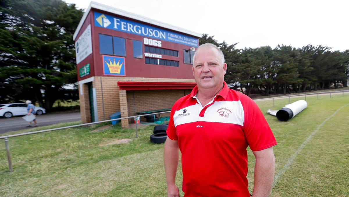 Dennington Football and Netball Club president is excited for the inaugural market. Picture: Anthony Brady.