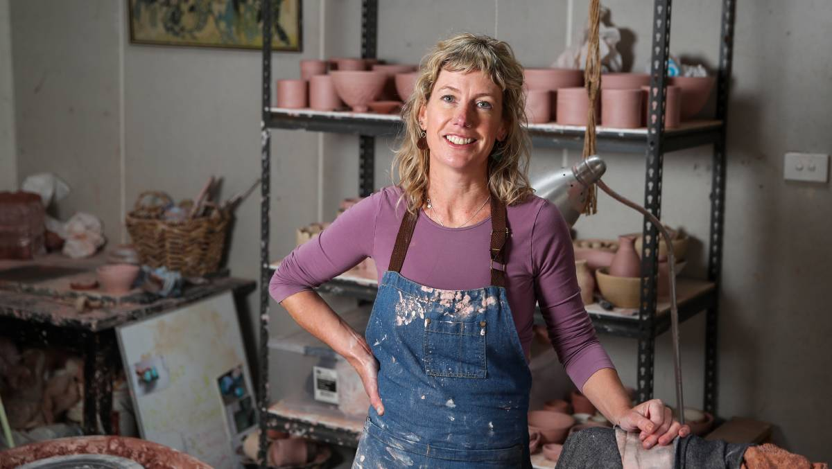 BEGINING: Port Fairy's Leearna Moloney has launched her own business Kit Ceramics and has already expanded into pottery classes. Pictures: Morgan Hancock