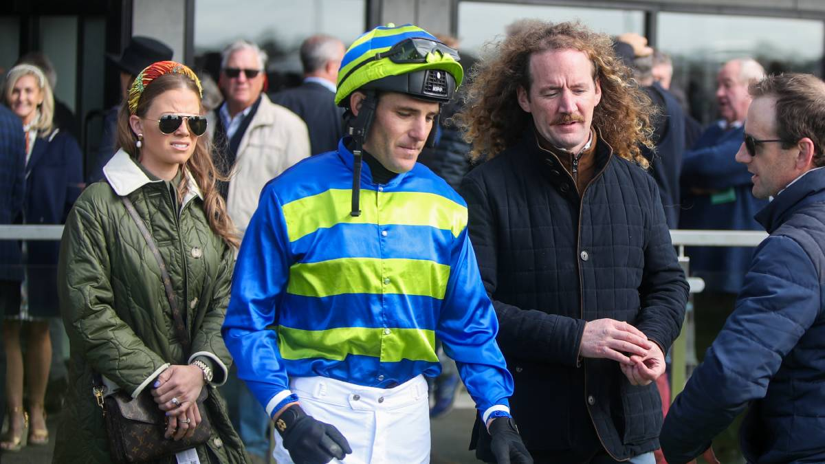 WINNING COMBINATION: Ciaron Maher and jockey Steve Pateman after wining with the Colin McKenna-owned Wil John. Picture: Chris Doheny