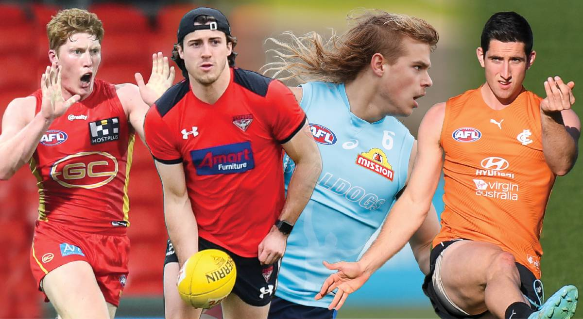 RISING STARS: Matt Rowell, Andrew McGrath, Bailey Smith and Jacob Weitering will all play a big part in their clubs' fortunes over the next decade.