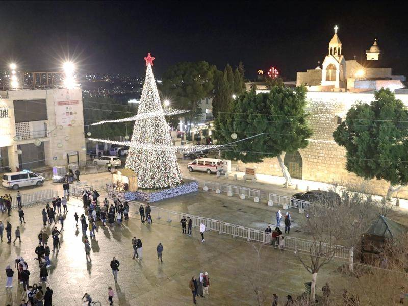 Thousands usually flock to Bethlehem for Christmas, but coronavirus restrictions kept crowds away.