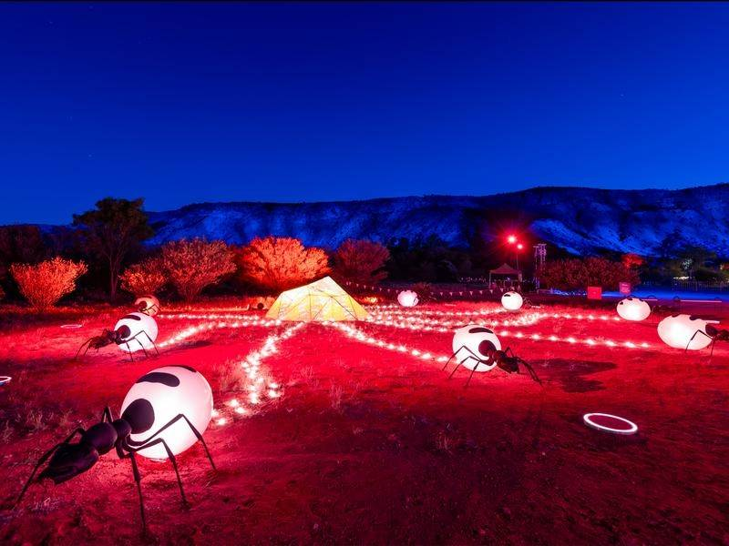 The Parrtjima Festival is a dazzling celebration of the Aboriginal art of central Australia.