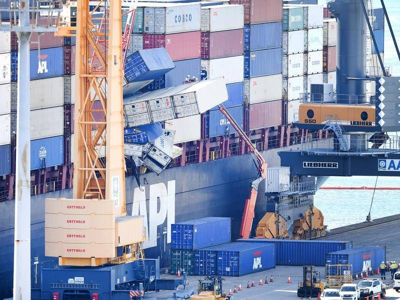 Thirty-five of the 50 containers lost overboard from the cargo ship APL England remain missing.
