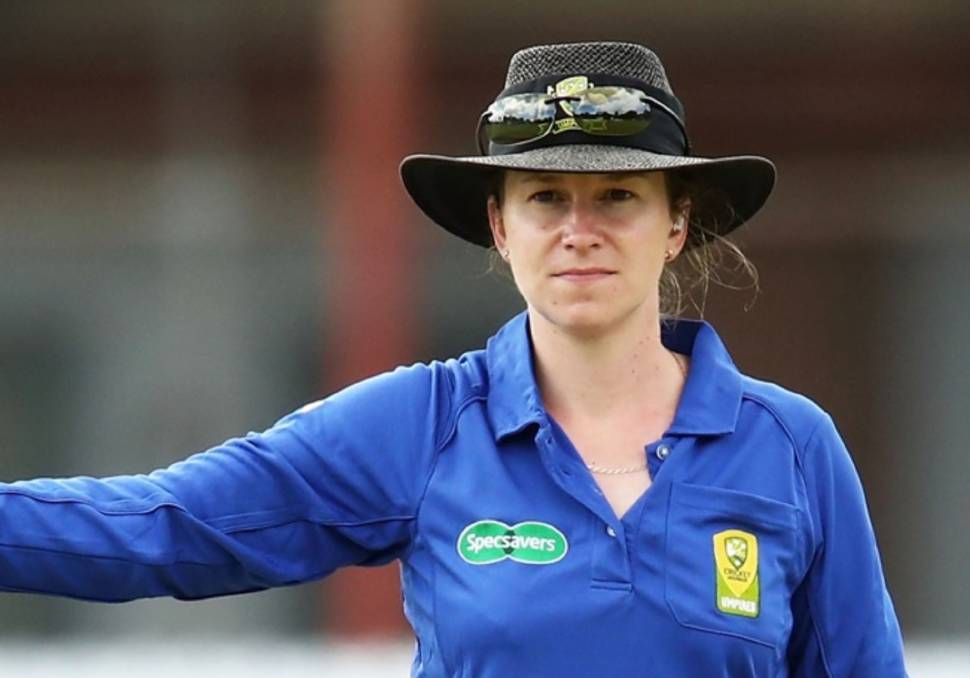 Claire Polosak is the fourth umpire for the third Test between Australia and India. Photo: Cricket NSW.